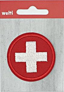 Wappen Kantone und Schweiz Applikation Motive Auf-Bügeln Patches waschbar, Bestickt