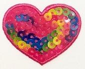 Herz Applikation, Motive, Patches, bestickt, zum aufbügeln, waschbar