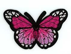 Schmetterlinge, Libellen Applikation, Motive, Patches, bestickt, zum aufbügeln, waschbar