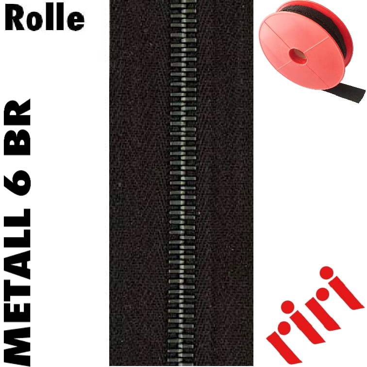 Riri Metall 6 Rolle 5m altsilber (BR) M6M5BR