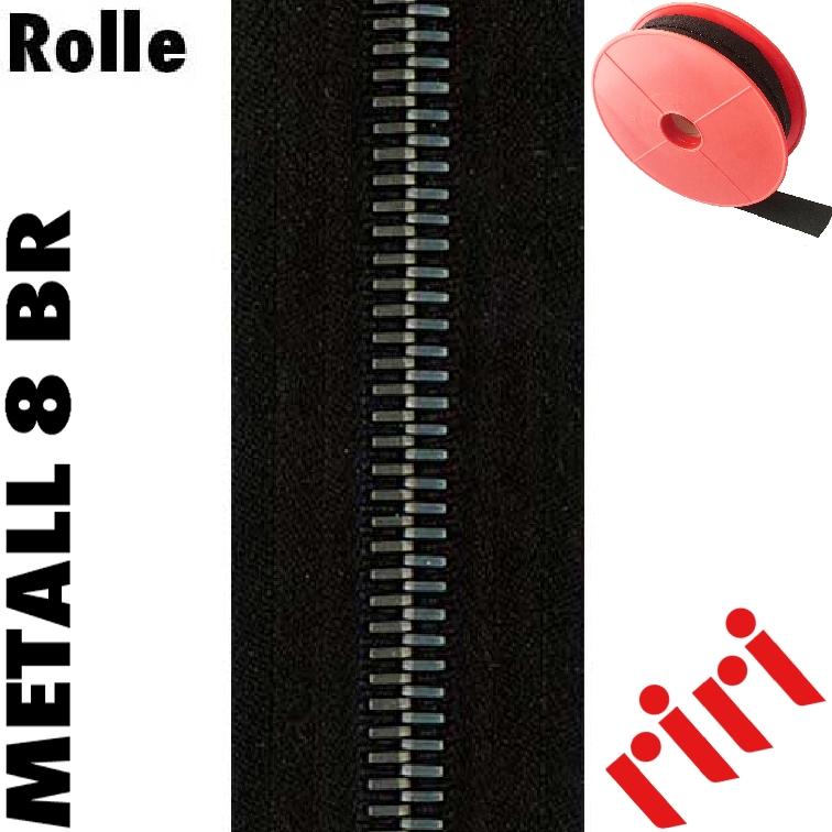 Riri Metall 8 Rolle 5m altsilber (BR) M8M5BR
