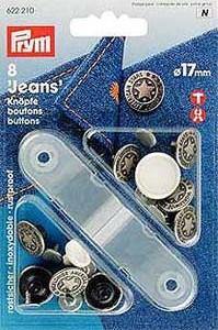 boutons jeans sans couture et à coudre / boutons jeans