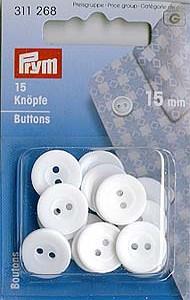 16 Wäscheknöpfe 17mm Polyester transparent koch mangelfest