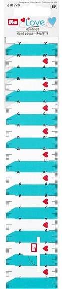 PRYM LOVE HANDMASS (PFIFFIKUS) 4,5X 23CM, 21CM SKALA, TÜRKIS / WEISS, KARTE A 1 STK.