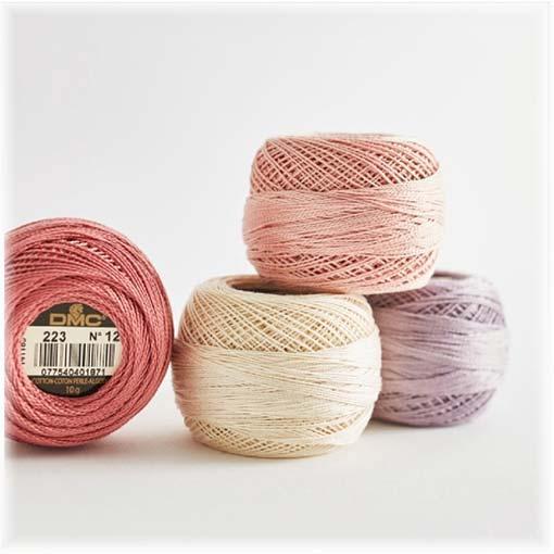 Stickgarn Baumwolle und metallic
