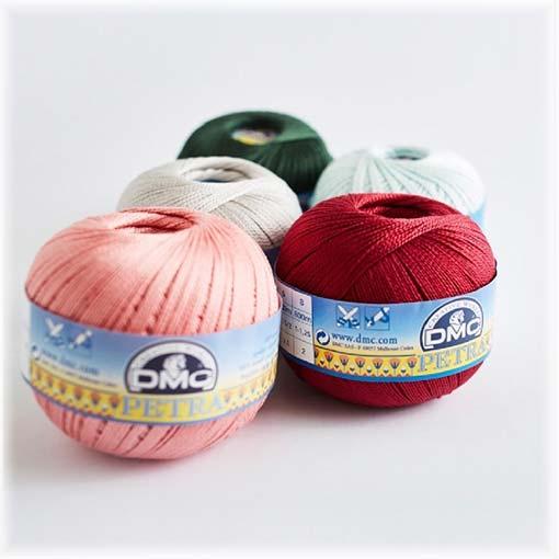 Fil à crocheter et tricoter coton