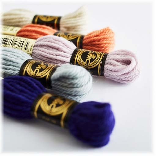 Stickgarn Baumwolle und Wolle
