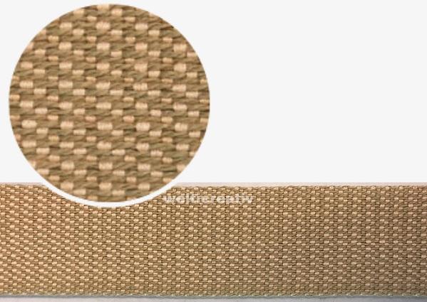 WELTI-TRENDLINE TASCHENBAND RIGID-BAND UNI, 100% CO, 3,5CM HELLES-KHAKI / LACHS-ROSA, OEKOTEX Certified made in EU (kein Lagerartikel)