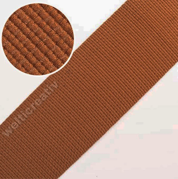 TASCHENBAND RIGID-BAND UNI 100% PES, 5CM CERAMID, OEKOTEX Certified made in EU (kein Lagerartikel)