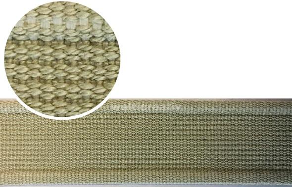WELTI-TRENDLINE TASCHENBAND GURTEN-BAND, 100% CO, 4CM HELL-BEIGE, OEKOTEX Certified made in EU (kein Lagerartikel)