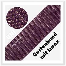 Gurtband Uni mit Lurex