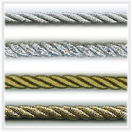 Kordeln Lurex gold, silber