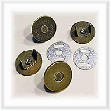 Prym Magnet-Annähknöpfe 19 mm silberfarbig