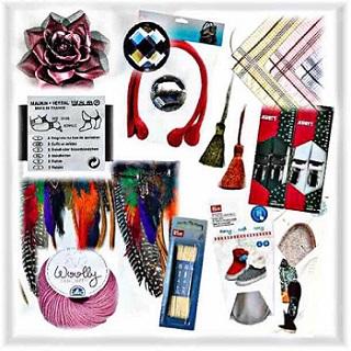 Accessoires, laine, addition assortiment