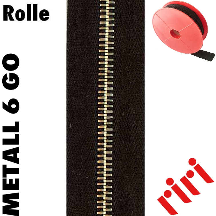Metall 6 Rolle 5m gold (GO) M6M5GO