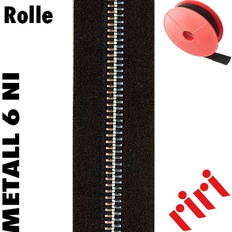 Metall 6 Rolle 5m nickel (NI) M6M5