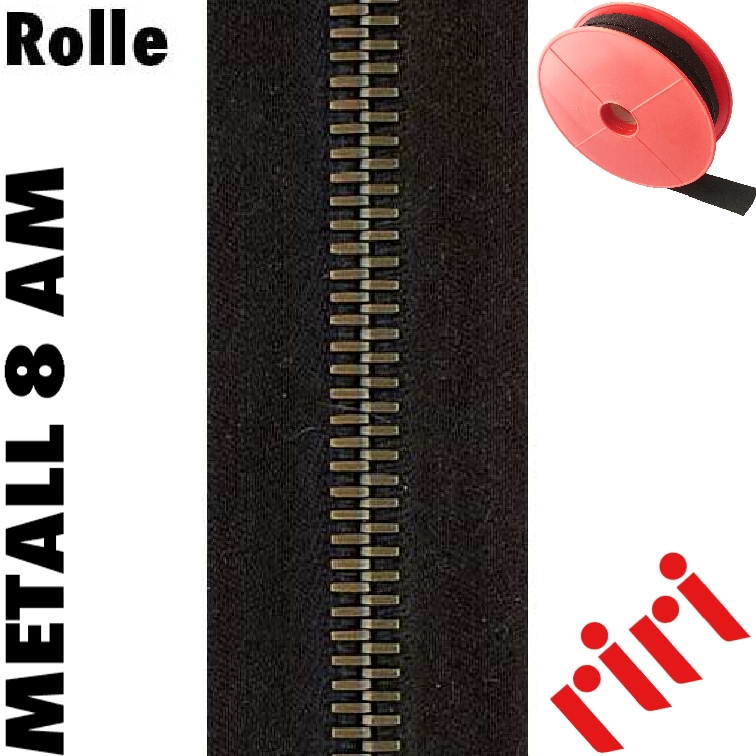 Riri Metall 8 Rolle 5m altmessing (AM) M8M5AM